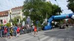 Zieleinlauf des Marathon Siegers 2013 - Kenianer Kigen Philip-Kiblabat