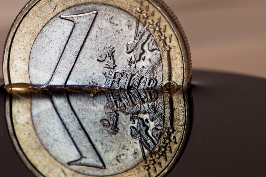 EuroMünze _Untergang im Wasser