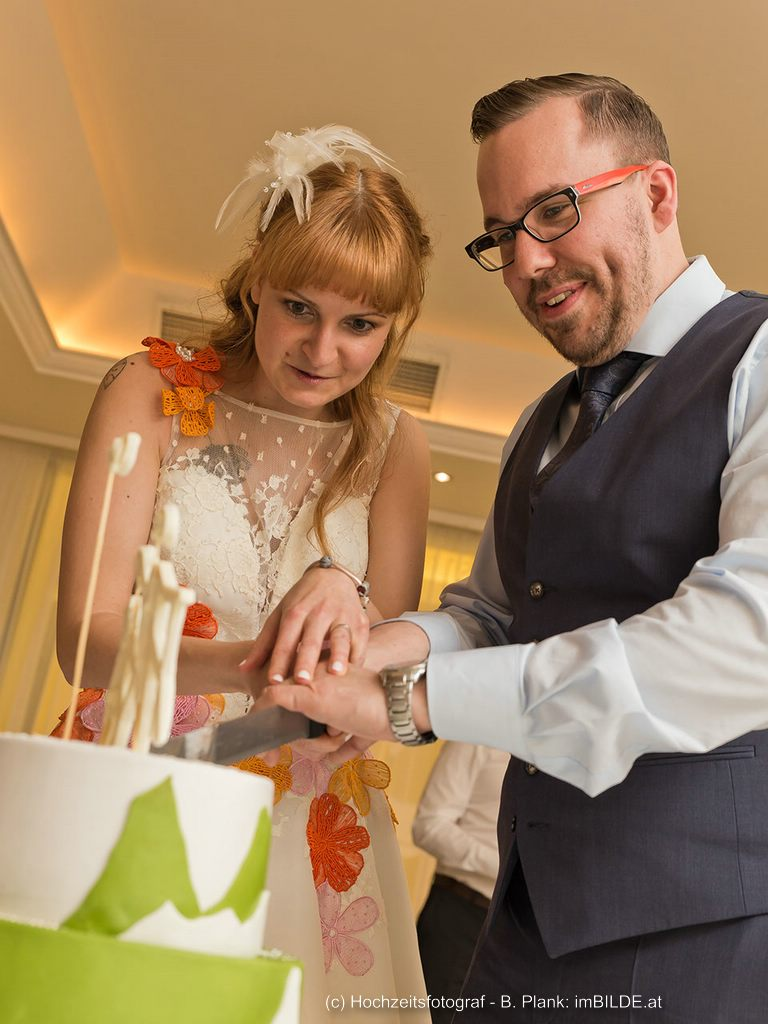 Hochzeitstorte Martina + Bernhard
